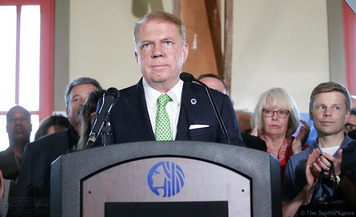 西雅图首位同志市长放弃竞选连任