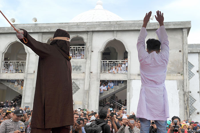 印尼亚齐省两名同志面临鞭刑