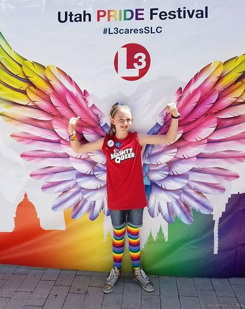 12岁摩门少女勇敢出柜:我要寻找彩虹