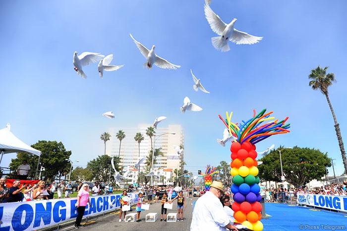 美国长堤市举行年度同志骄傲巡游