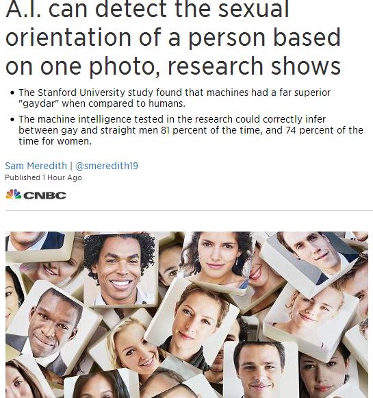 只要一张照片,人工智能就准确识别同性恋